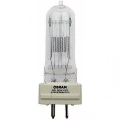 OSRAM 64788 Halogen 230V/2000W CP72 patice GY16