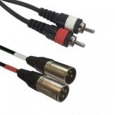Kabel AC-2XM-2RM/5  2x XLR male to 2x RCA cinch